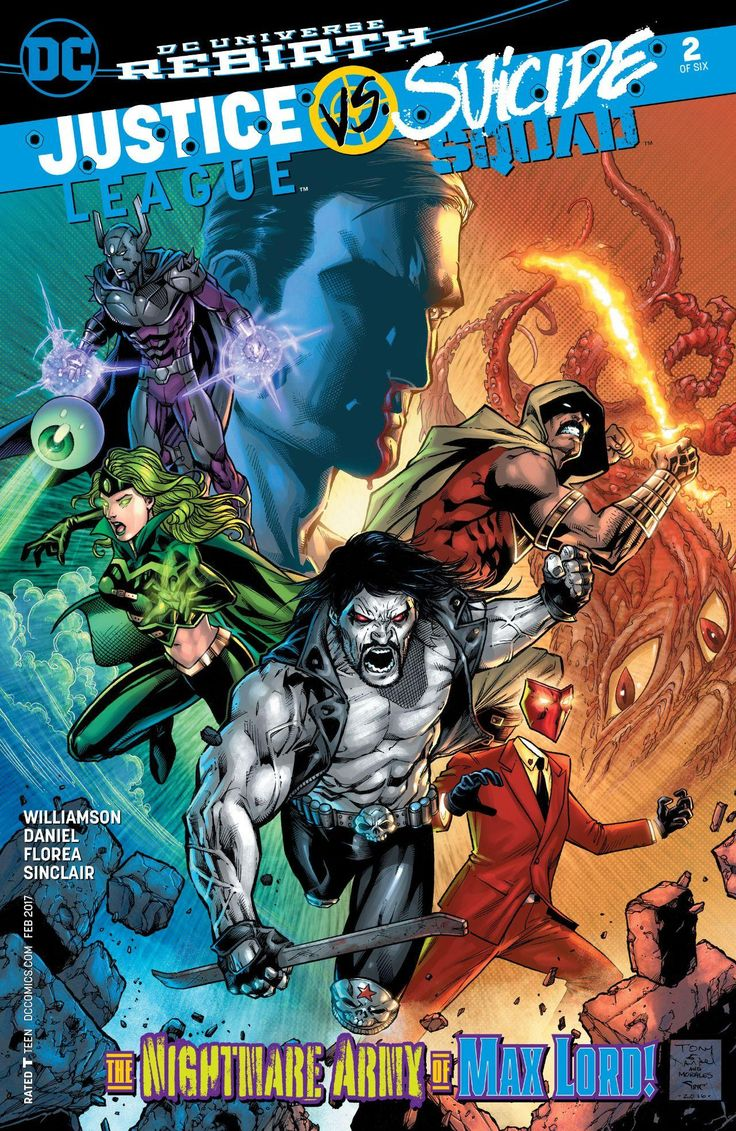 Amanda Waller's team of villains and crazies goes up against the Justice League for their first fight ever! You won't believe the cliffhanger ending in JUSTICE LEAGUE VS. SUICIDE SQUAD #2! #LeaguevSquad
