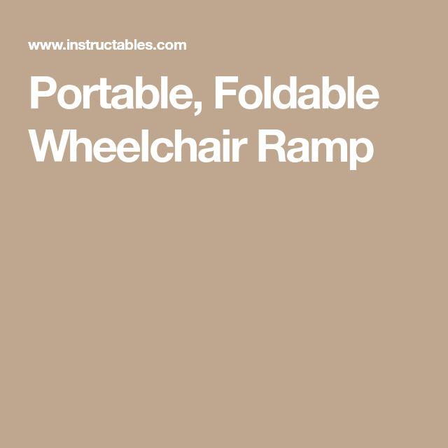 Portable, Foldable Wheelchair Ramp