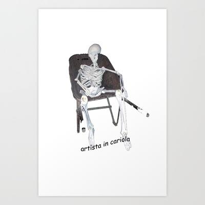 l'artista in cariola Art Print by Francesco Mestria - $12.48