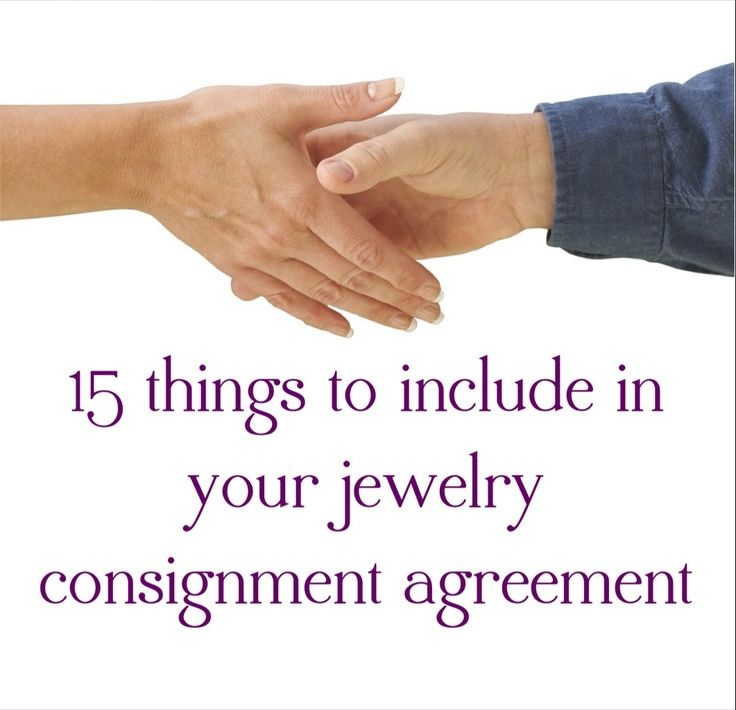 jewelry consignment agreement