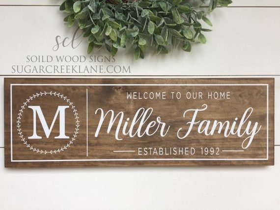 Personalized Welcome To Our Home Sign Family Name Plaque With Etsy In 2020 House Warming Gifts Family Signs Diy Wood Signs