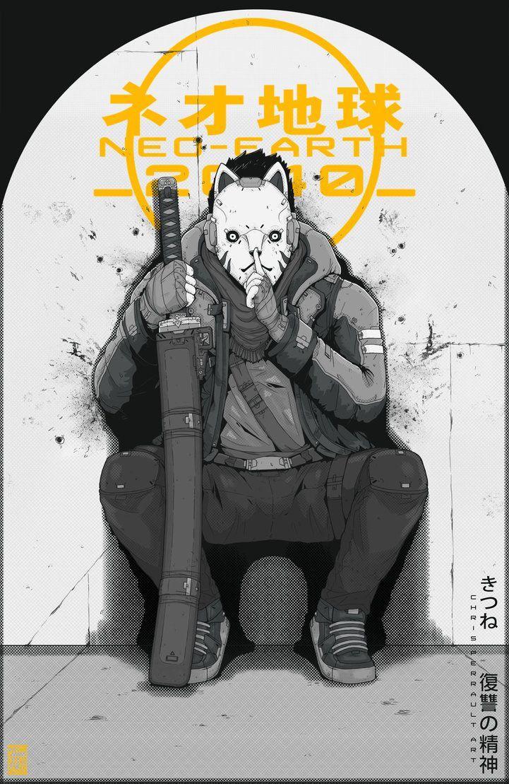 NEO-EARTH 2040: Tom Noir Poster- Kitsune by TheChrisPMan on DeviantArt