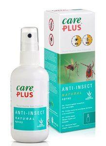 Care Plus Natural Spray (60ml) Care Plus Anti-Insect Natural spray is een muggen en teken afwerende middel voor de huid gebaseerd op natuurlijke lemon-eucalyptus extracten. Het is dus een anti-insecten spray...