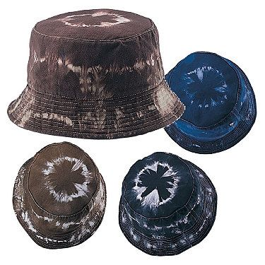 Wholesale Hats - Wholesale Tie Dyed and Washed Cotton Bucket Hats
