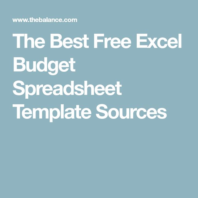 The Best Free Excel Budget Spreadsheet Template Sources
