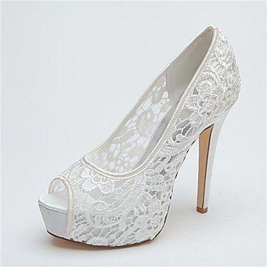 Women's Shoes Platform Peep Toe Stiletto Heel Lace Pumps Wedding Shoes More Colors available - USD $ 44.99