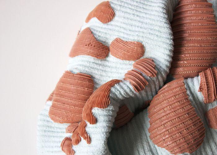 ||TEXTILES|| Lucy Simpson textiles - 3-d designs - two tone - silicone - minimal + chic - womens fashion fabrics