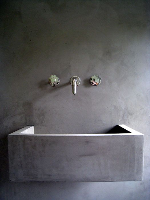 Contemporary Bathroom in Moroccan Plaster | Decor Tadelakt