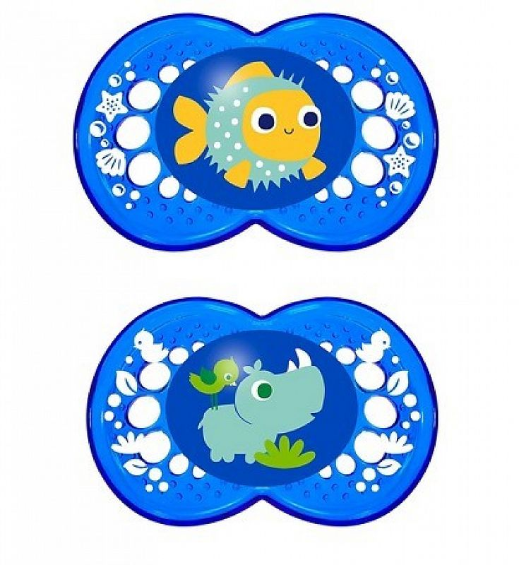 "MAM ""CRYSTAL"" 2x Dummy Pacifier Soother"