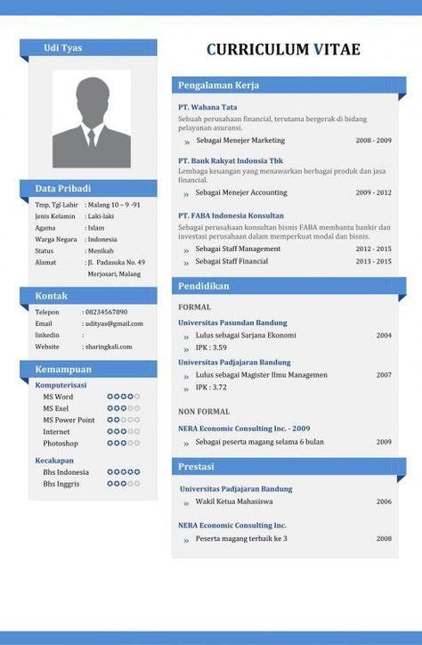 contoh cv yang menarik pinterest resume cv template and resume cv