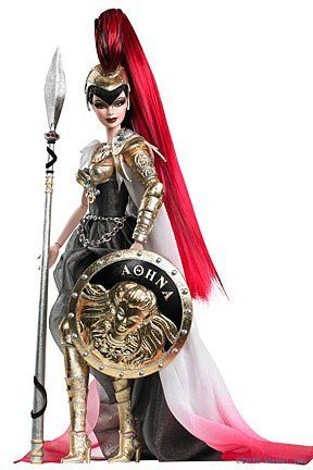 Barbie as Athena- why didn't I grow up with these barbies?