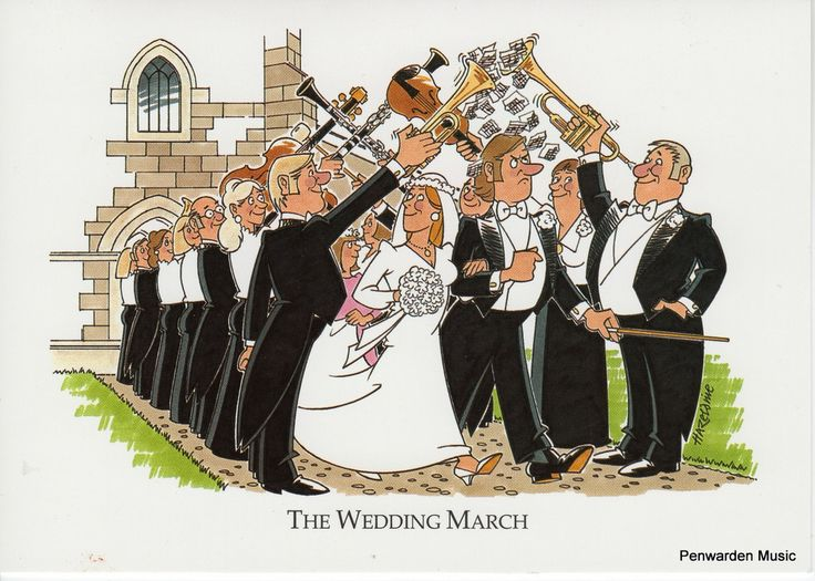Joan Butler Classics Greeting Card - Wedding March