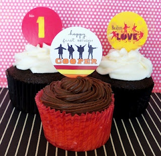 Beatles CupCakes from CupCake FabuLous