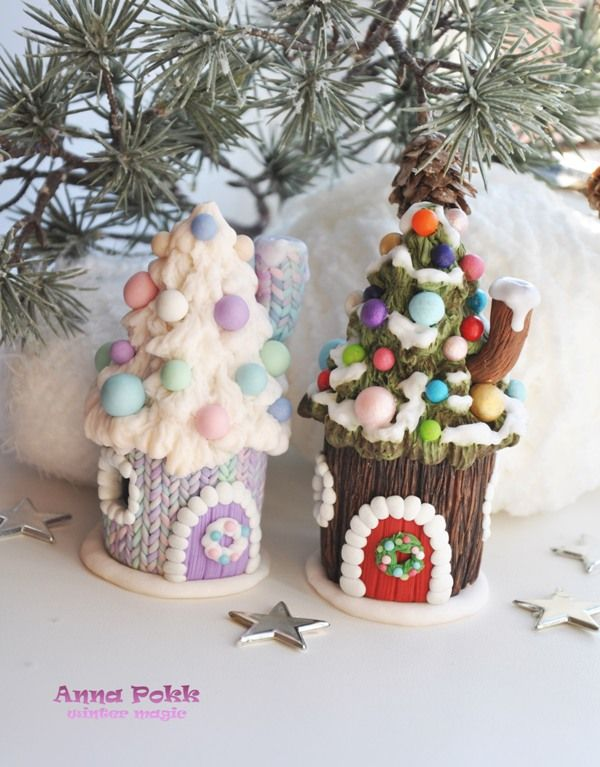 полимерная глина, новый год, рождество,polymerclayn, christmas