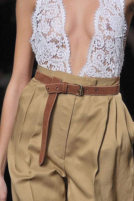 high waist and lace