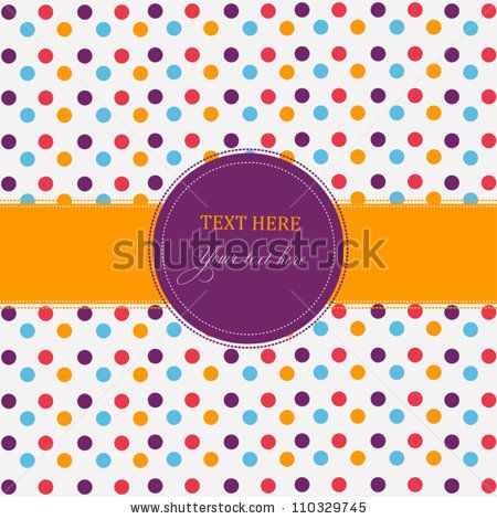 Holiday scrap card with polka dot and frame - stock vector