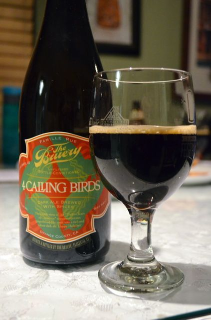 4 Calling Birds in a glass - a great way for beer lovers to celebrate the season!