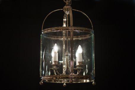 C10:CL11018LNN Medium Edwardian Arch Top Lantern in Polished Nickel