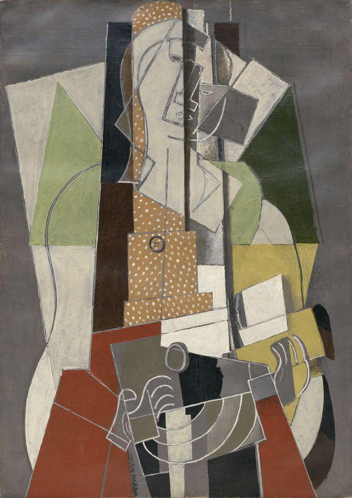 'La joueuse de mandoline' (1917) by Georges Braque