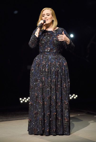 Adele performs on stage during her North American tour at Staples Center.