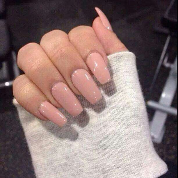 Casket nails nude