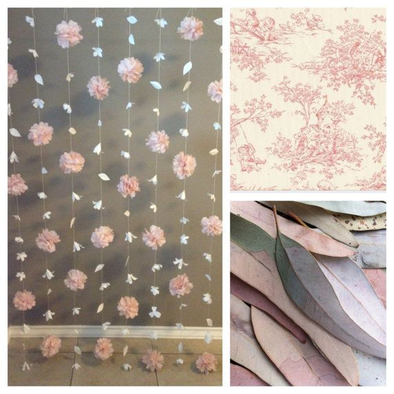 Paper Flower and Tissue Paper Puff Garland by KMHallbergDesign
