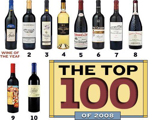 Lista de los 100 mejores vinos del mundo