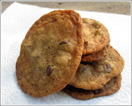 Today I made Alexis Stewart's chocolate chip cookies and they were great! In the past, the recipe didn't work for me. The cookies were so thin I could barely peel them off the sheet. Then I read somewhere that Alexis (who started making these whe