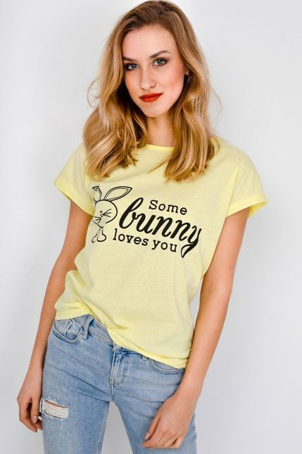 7f73d2b6cd04 Dámske žlté tričko s krátkym rukávom