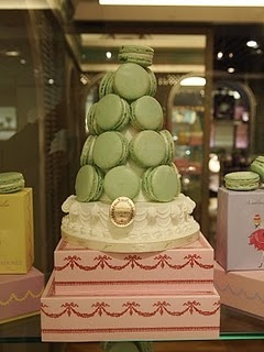 Laduree's Macarons - the palette used for these confections was the inspiration for that used in the Sophia Coppola's Marie Antoinette...