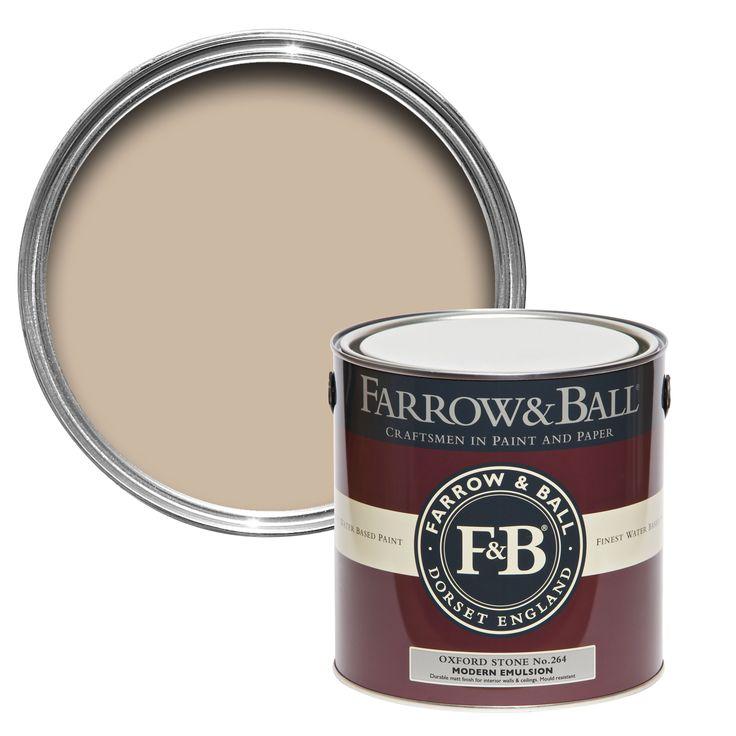 Farrow & Ball Oxford Stone No.264 Matt Modern Emulsion Paint 2.5L | Departments | DIY at B&Q