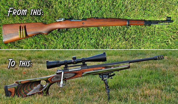 "I've developed a penchant for taking old military surplus rifles and turning them into some pretty respectable shooters - a process known as ""sporterizing."" In my Instructable, I walk through the basic steps to sporterize a WWII rifle. The term ""sporterize"" can mean different things to different people, but in general it's a term applied to military firearms that are modified and re-purposed to more ""sporting"" use such as target shooting or hunting.) J.  Williamsen"