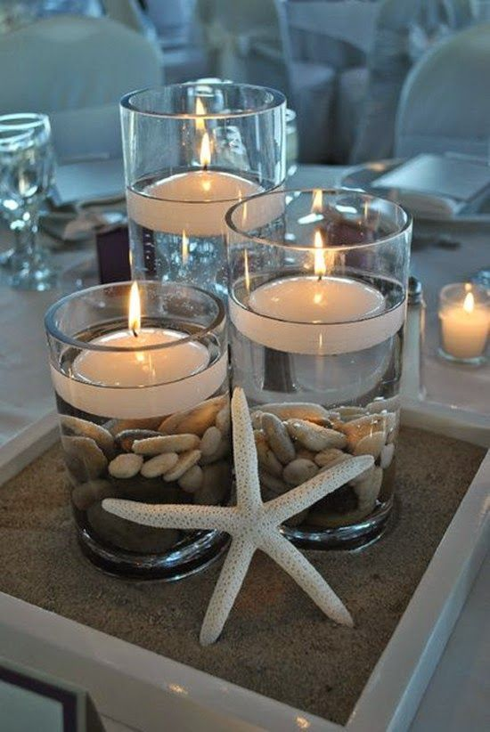 Champange Beach Wedding Decorations Wedding Centerpieces With