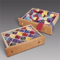 Great device for organizing a sock drawer!