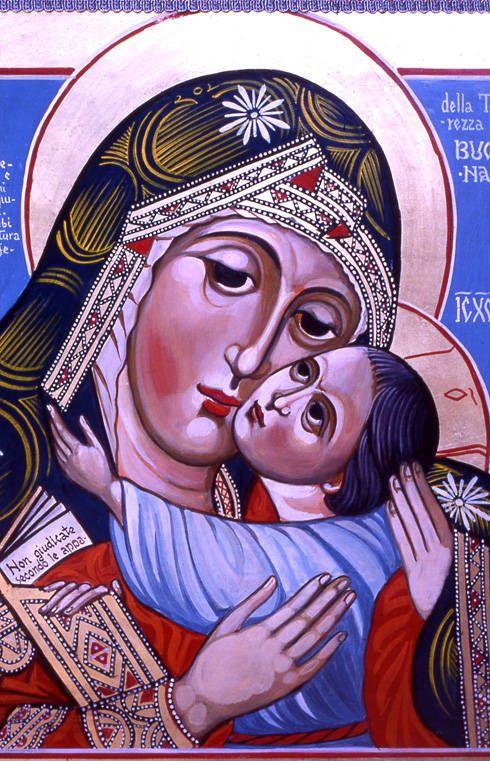 Madre di Dio della Tenerezza della Bucovina, per mano di Aurel Ionescu