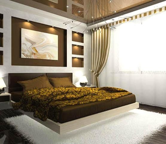 Cream brown gold bedroom ideas bedroom designs for Cream and gold bedroom designs