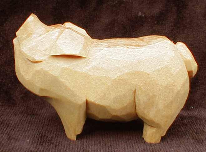 Image result for wood carved pig
