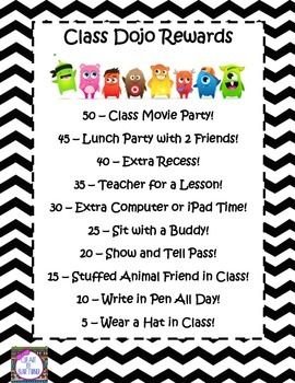 Class Dojo Rewards I like the idea of a whole class award if they reach a goal!