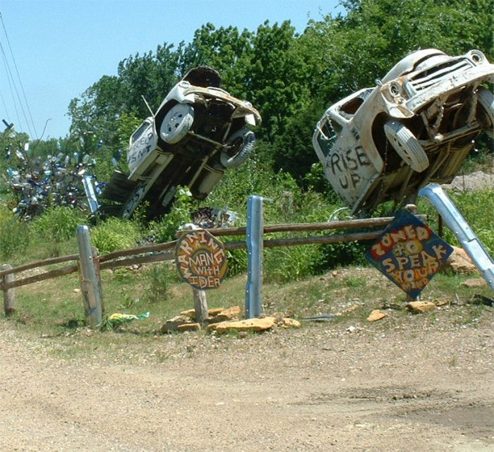 Ten unique must-see attractions in Kansas 10.) The Lessman Farm & Truckhenge (Topeka)