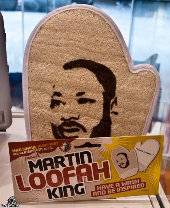 Irreverent awesome.: Loofah King, Funny Stories, Martinloofah, Funny Commercial, Funny Photo, White Elephant, Martin Luther, So Funny, Martin Loofah