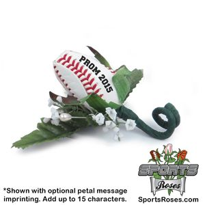 how to make a baseball rose boutonniere