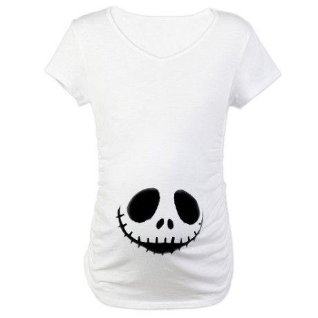 Skeleton Smiling Maternity T-Shirt... I needs it :3 $28.50 i needs the jack skellington