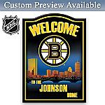 NHL  Boston Bruins  Personalized Welcome Sign Wall Decor