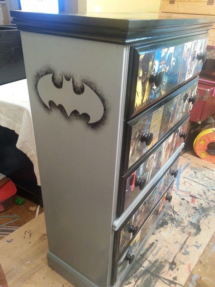 Superman Batman Dresser By Shabby Jacks
