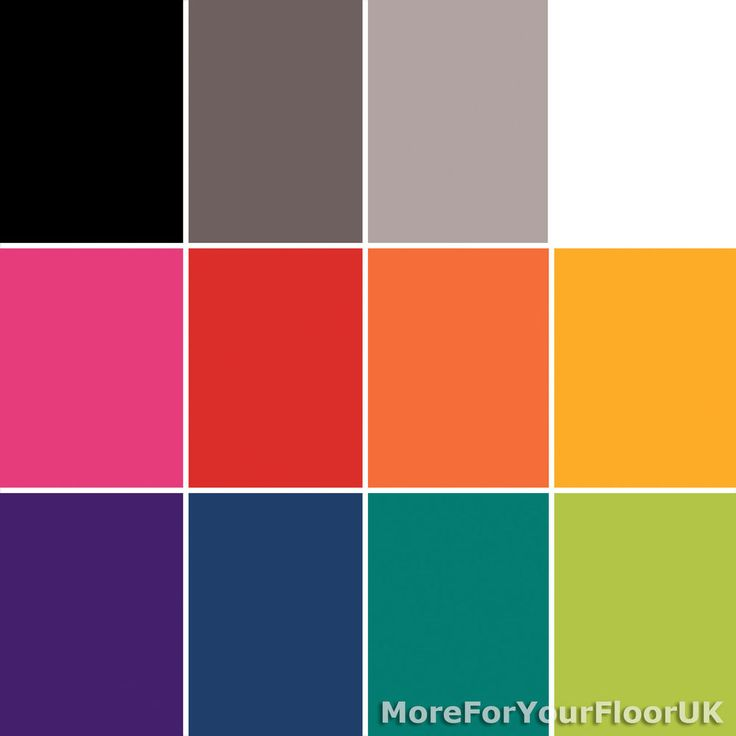 Shades Plain Coloured Vinyl Flooring, Bright Colours, Cheap Lino, 2m 3m 4m Wide