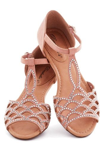 Set in Gemstone Sandal - Pink, Cutout, Rhinestones, Wedding, Bridesmaid, Fairytale, Low, Party, Daytime Party, Pastel, Summer, Faux Leather
