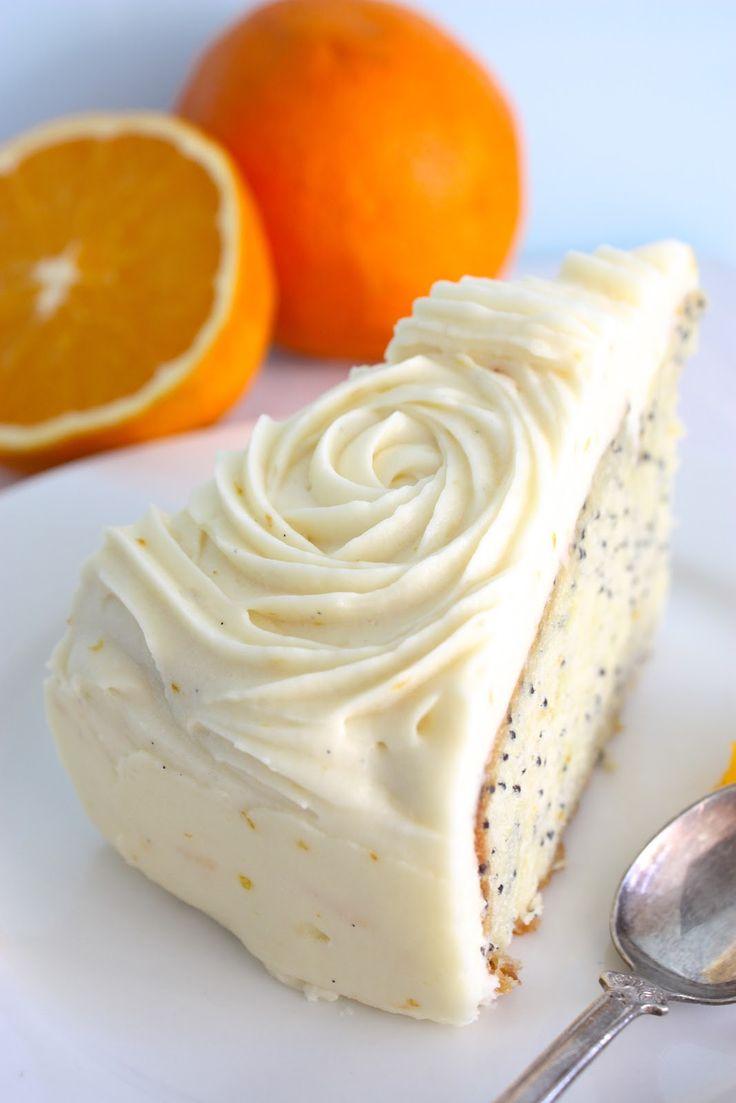 Orange & Poppy Seed Cake     :: Megann's Kitchen ::              :: orange & poppyseed cake  with orange vanilla cream cheese frosting  :...