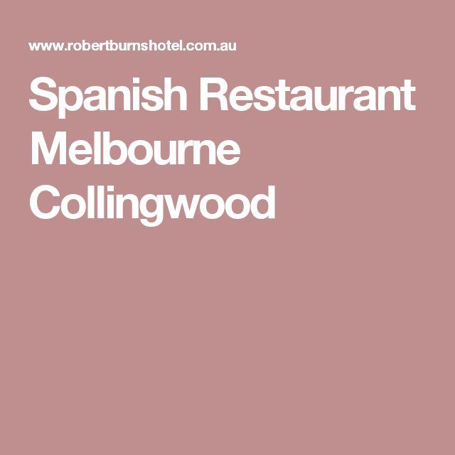 Spanish Restaurant Melbourne Collingwood