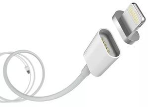 Кабель GOR магнитный Apple Lightning Magnetic белый (3CA129W) .