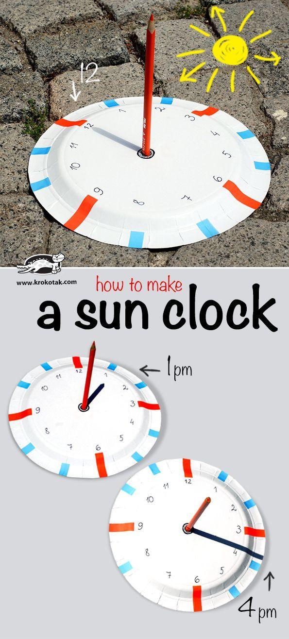 Zelf een zonneklok maken met de leerlingen.